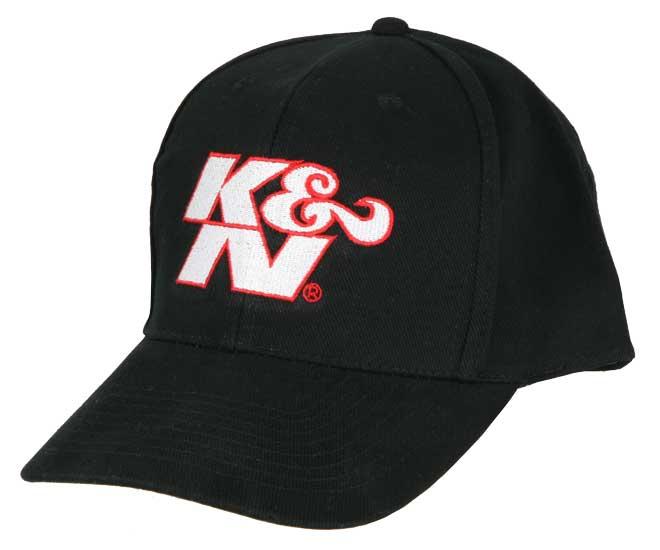 Hat; Black,White K&N W/Red Outline