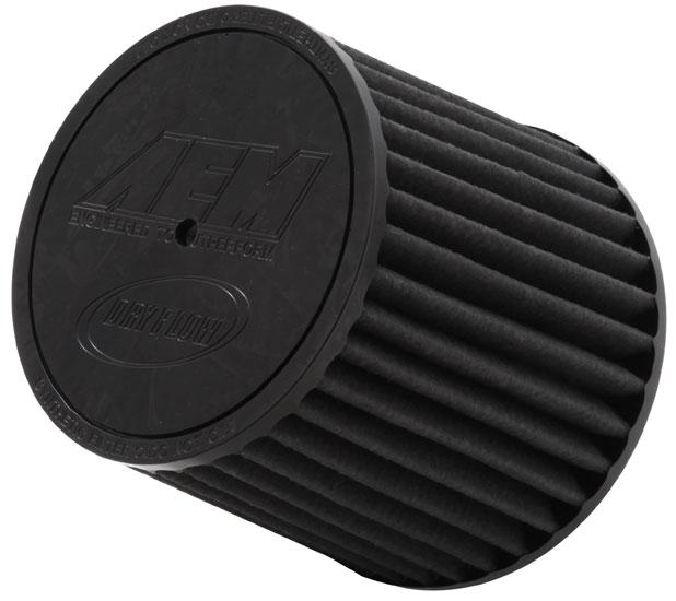 "Air Filter; 2.5"" X 5"" Dryflow- W/Hole"