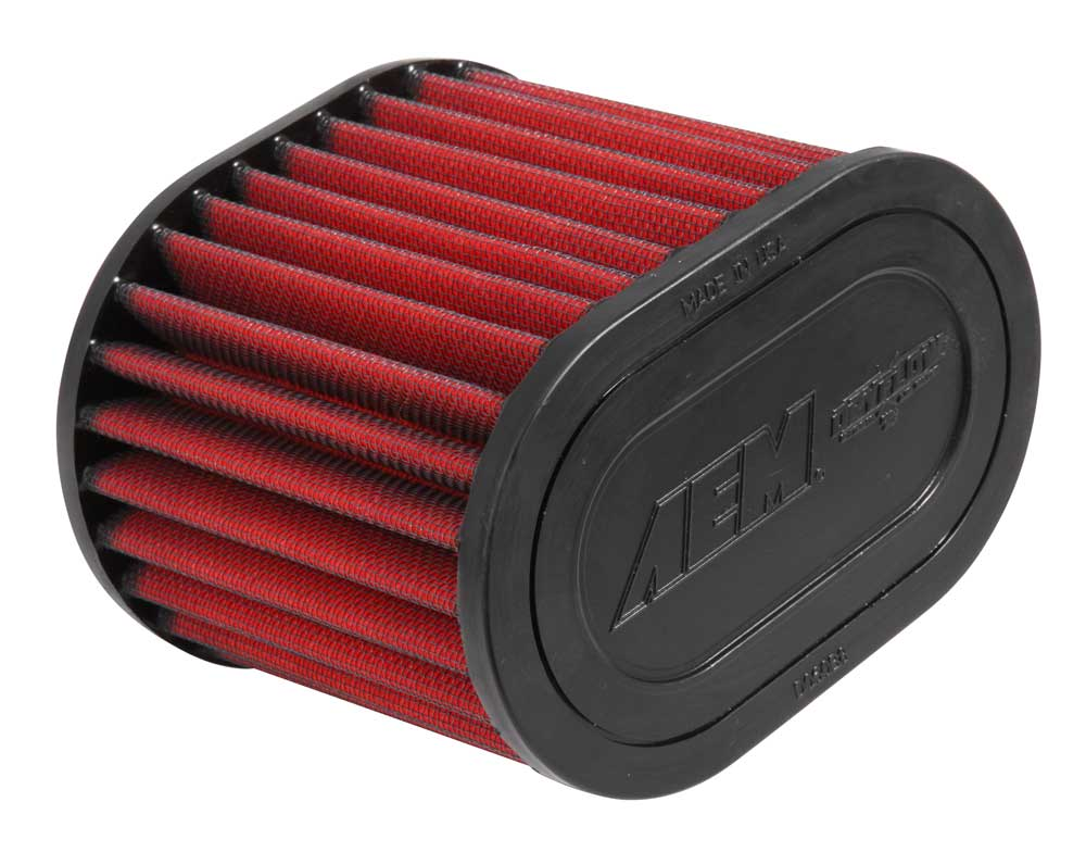 "Air Filter; 2.75"" X 5"" Oval Dryflow"