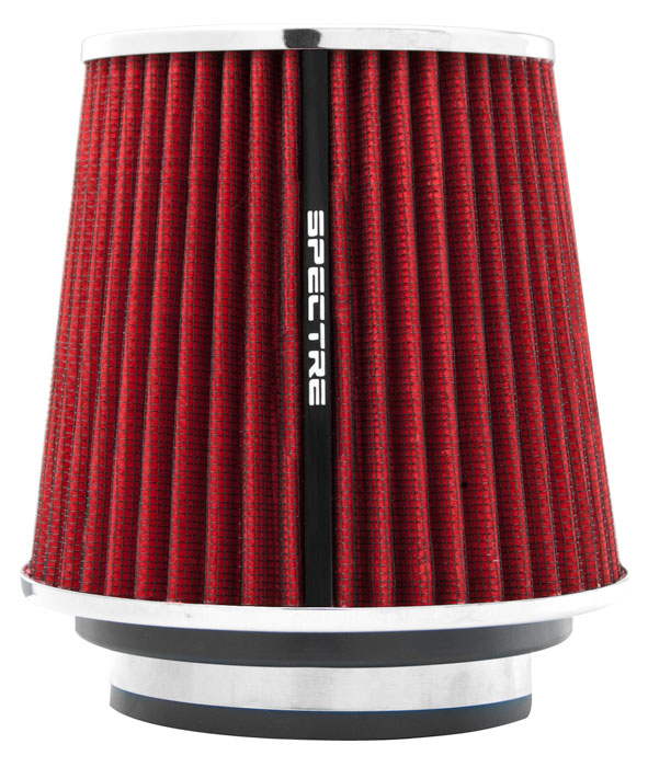 """Spectre Performance 8132 HPR Air Filter 3"""", 3.5"""", 4"""" Cone - 6.7"""" Tall - Red/Chrome"""