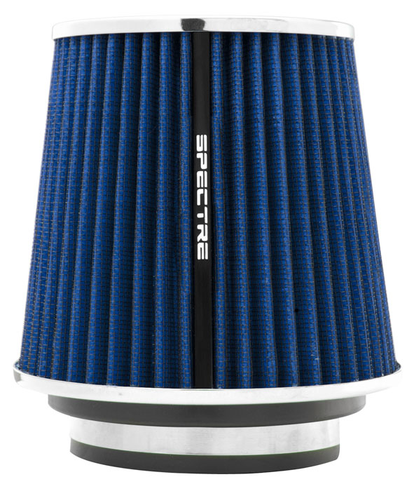 "Spectre Performance 8136 HPR Air Filter 3"", 3.5"", 4"" Cone - 6.7"" Tall - Blue/Chrome"