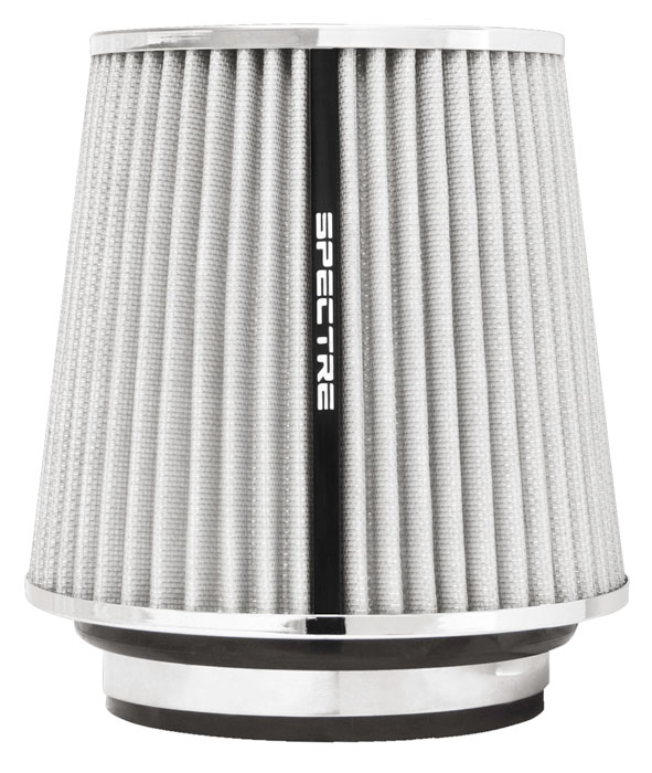 """Spectre Performance 8138 HPR Air Filter 3"""", 3.5"""", 4"""" Cone - 6.7"""" Tall - White/Chrome"""