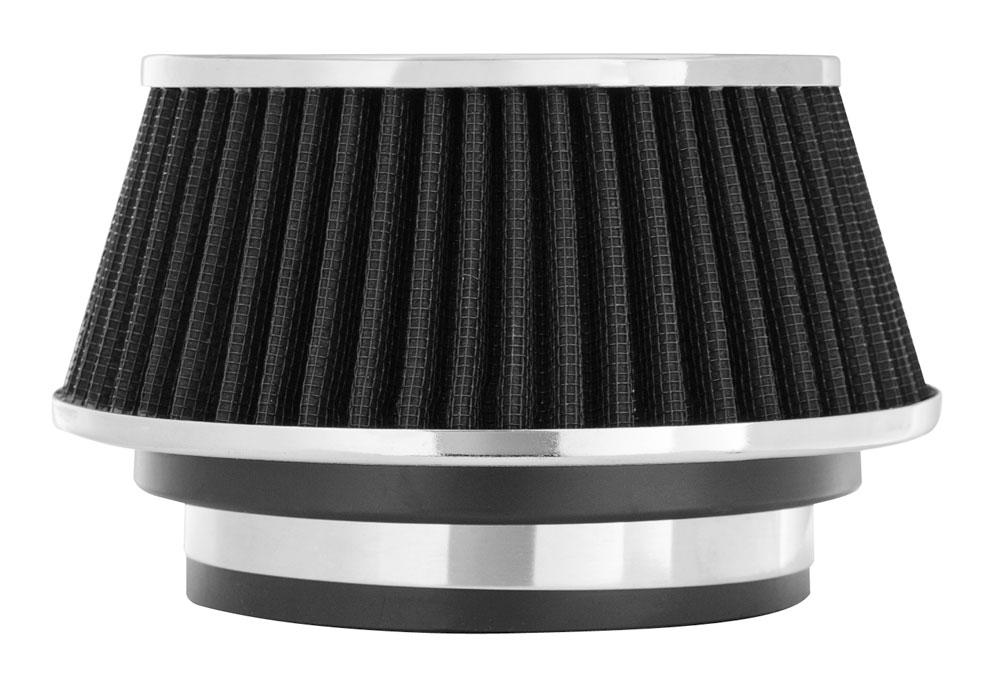 "Spectre Performance 8161 HPR Air Filter 3"", 3.5"", 4"" Cone - 3.7"" Tall - Black/Chrome"