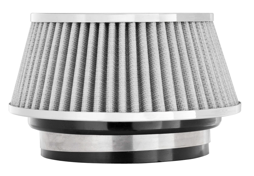 """Spectre Performance 8168 HPR Air Filter 3"""", 3.5"""", 4"""" Cone - 3.7"""" Tall - White/Chrome"""