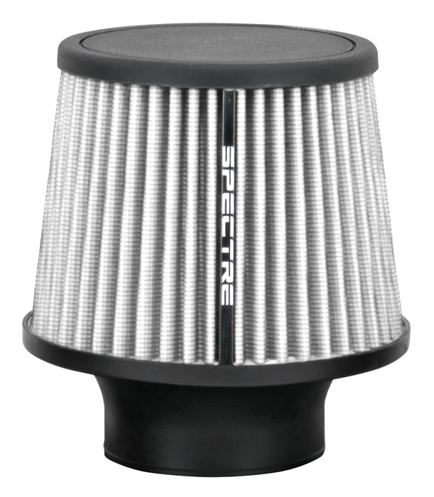 """Spectre Performance 9138 HPR Air Filter 3"""" Cone - 6.5"""" Tall - White"""