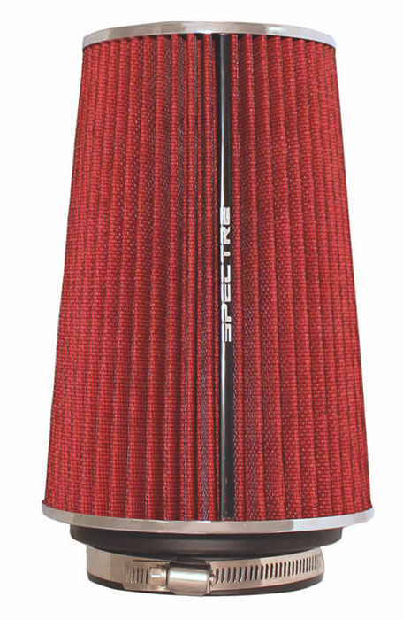 """Spectre Performance 9732 HPR Air Filter 3"""", 3.5"""", 4"""" Cone - 10.5"""" Tall - Red/Chrome"""