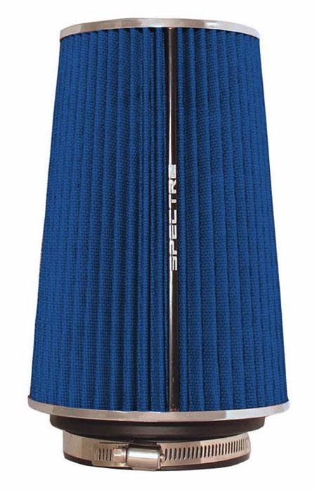 "Spectre Performance 9736 HPR Air Filter 3"", 3.5"", 4"" Cone - 10.5"" Tall - Blue/Chrome"