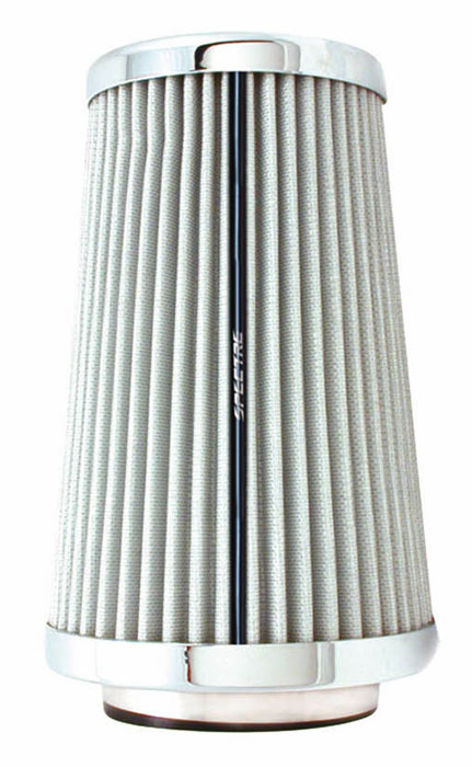 """Spectre Performance 9738 HPR Air Filter 3"""", 3.5"""", 4"""" Cone - 10.5"""" Tall - White/Chrome"""