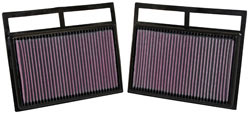 K&N 33-2412 Replacement air filter for a wide range of 2002 - 2012 Mercedes Benz and Maybach makes and models