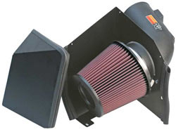 K&N's 57-3000 air intake system for GM diesel and Silverado diesel heavy duty trucks