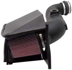 K&N's 57-3057 air intake system for GMC Sierra and Chevrolet Silverado 2500 and 3500