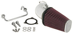 K&N's 63-1122P performance air intake kit with a bright mirror finish for 2008, 2009, 2010, 2011 & 2012 Harley Davidson Touring Models