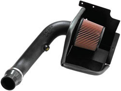 K&N's 63-1560 air intake system for the Dodge Caliber SRT with a 2.4 liter turbo engine