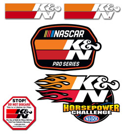 K&N Racing Decal Stickers