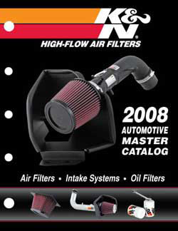 The 2008 K&N Master Catalog is a product of K&N's Electronic Data
