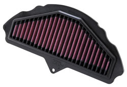 Replacement air filter for 2008 and 2009 Kawasaki Ninja ZX-10R