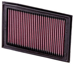 K&N's KA-2508 replacement air filter for the 2008-2012 Kawasaki EX250R Ninja 250