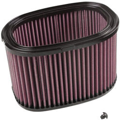 K&N high flow air filter, KA-7408, with provided plug for 2008-2010 Kawasaki KVF750 Fuel Injected 4X4 and 4X4 Brute Force UTVs